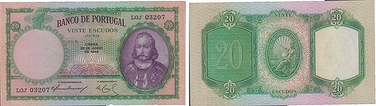 Paper Money - Portugal - 20$00 ch. 6 1919