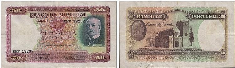 Paper Money - Portugal - 50$00 ch. 6A 1949