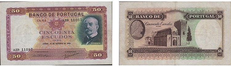 Paper Money - Portugal - 50$00 ch. 6A 1944