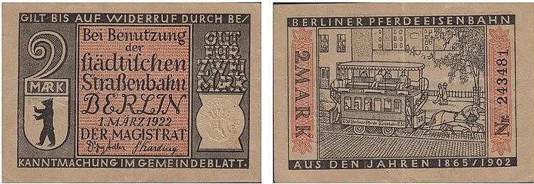 Paper money - Germany 2 Mark 1922