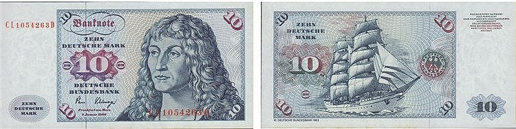 Paper Money - Germany 10 Deutsche Mark 1980