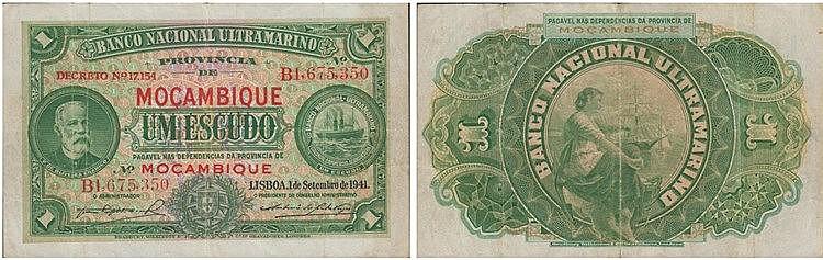 Paper money - Mozambique 1$00 1941