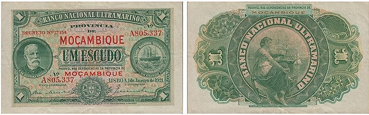 Paper Money - Mozambique 1$00 1921