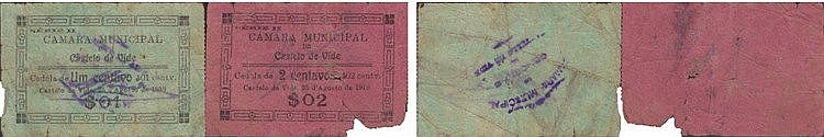 Cédula - Castelo de Vide 2 expl. 1, 2 Centavos 1919