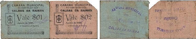 Cédula - Caldas da Rainha 2 expl. 1, 2 Centavos 1920