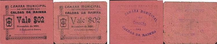Cédula - Caldas da Rainha 2 expl. 2 Centavos 1920