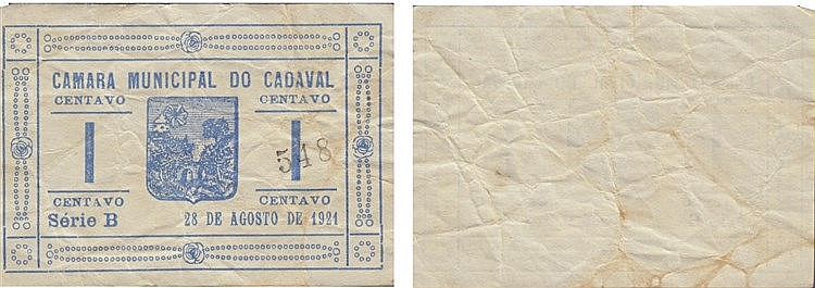 Cédula - Cadaval 1 Centavo 1921