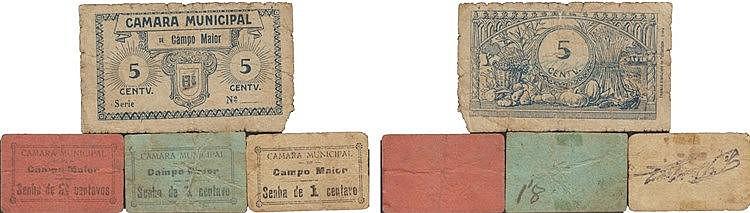 Cédula - Campo Maior 4 expl. 1, 2, 5 Centavos N/D