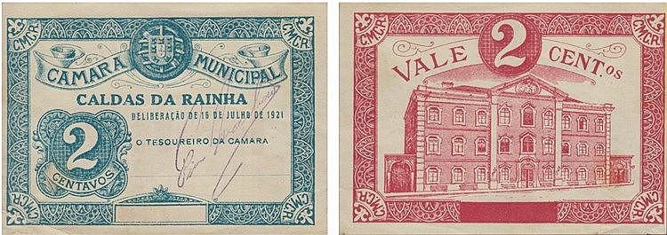 Cédula - Caldas da Rainha 2 Centavos 1921