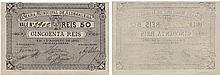Cédula - Aldegalega 50 Reis 1891