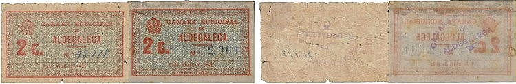 Cédula - Aldegalega 2 expl. 2 Centavos 1921-1922