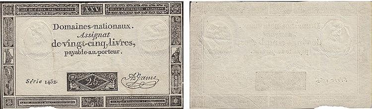 Paper Money - France 25 Livres 1793