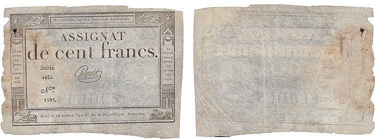 Paper Money - France 100 Francs ND (1795)