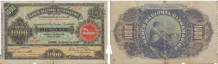 Paper Money - Mozambique 1000 Réis 1909