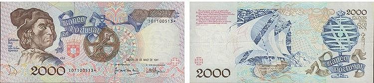 Paper Money - Portugal - 2000$00 ch. 1 1991, Substituição
