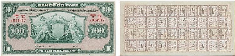 Paper Money - Brasil 100 000 Réis 19( )