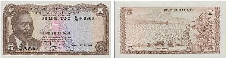 Paper Money - Kenya 5 Shillings 1973