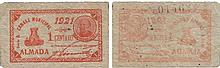 Cédula - Almada 1 Centavo 1921