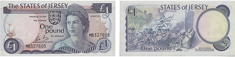 Paper Money - Jersey Pound ND (1976-88)