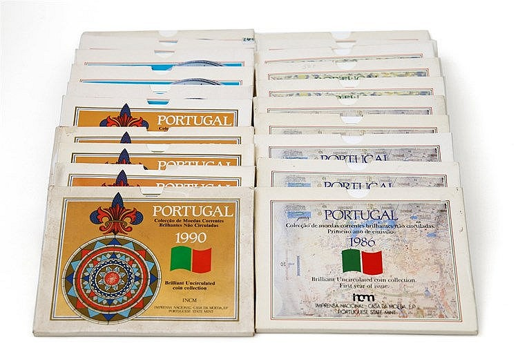Portugal - Republic - 20 Carteiras BNC 1986-1990