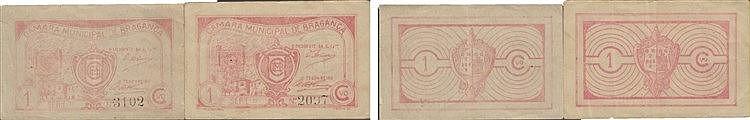 Cédula - Bragança 2 expl. 1 Centavo N/D