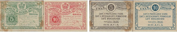 Cédula - Braga 5, 10 Centavos N/D