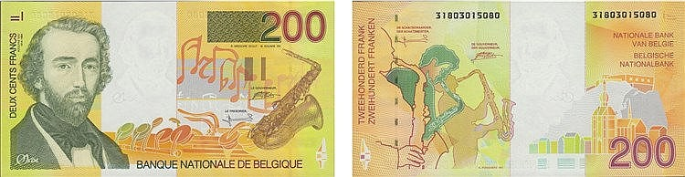 Paper Money - Belgique 200 Francs ND (1995)