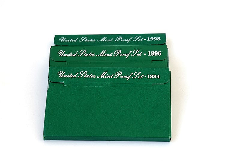 U.S.A. - 3 portfolios Proof Set 1994-1998