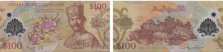 Paper Money - Brunei 100 Ringgit 2008