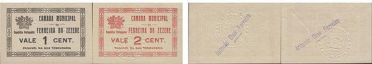 Cédula - Ferreira do Zezere 2 expl. 1, 2 Centavos N/D