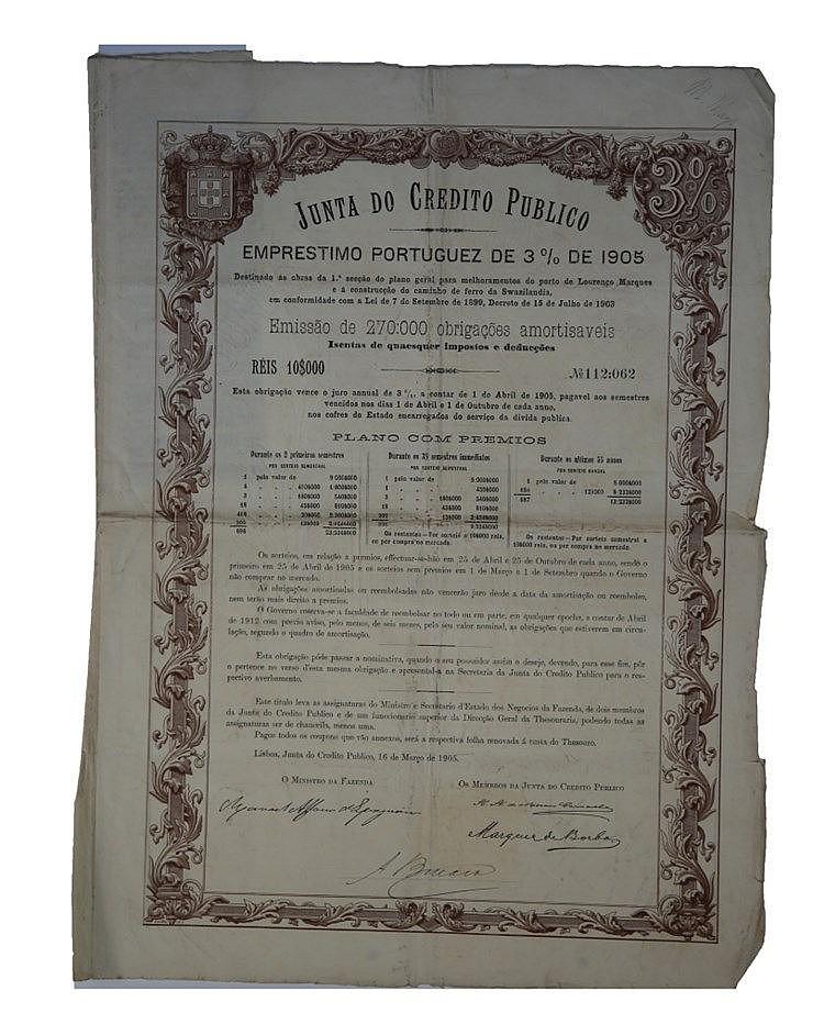 Junta de Crédito Público - 3% 1905