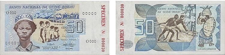 Paper Money - Guiné-Bissau 50 Pesos 1975