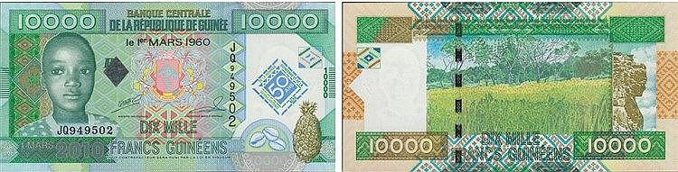 Paper Money - Guinea 10 000 Francs 1960