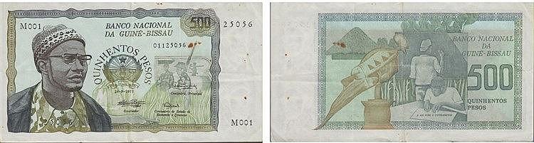 Paper Money - Guiné-Bissau 500 Pesos 1975