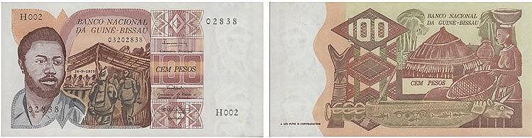 Paper Money - Guiné-Bissau 100 Pesos 1975
