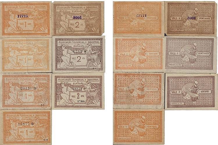 Cédula - Espinho 7 expl. 1, 2 Centavos 1920