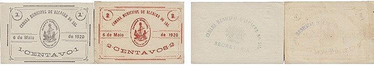 Cédula - Alcácer do Sal 2 expl. 1, 2 Centavos 1920
