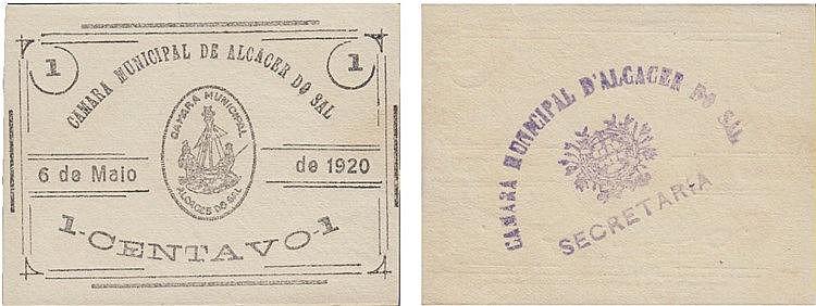 Cédula - Alcácer do Sal 1 Centavo 1920