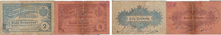 Cédula - Abrantes 2 expl. 2, 4 Centavos 1920