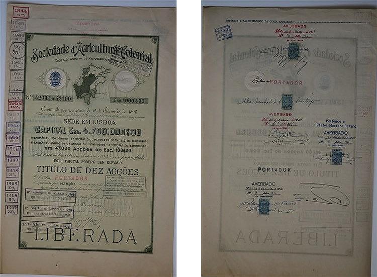 Título de Acção - 1000$00 1944