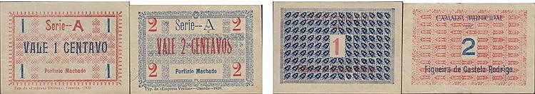 Cédula - Figueira de Castelo Rodrigo 2 expl. 1, 2 Centavos 1920