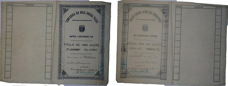 Título de Acção - 100$00 1917