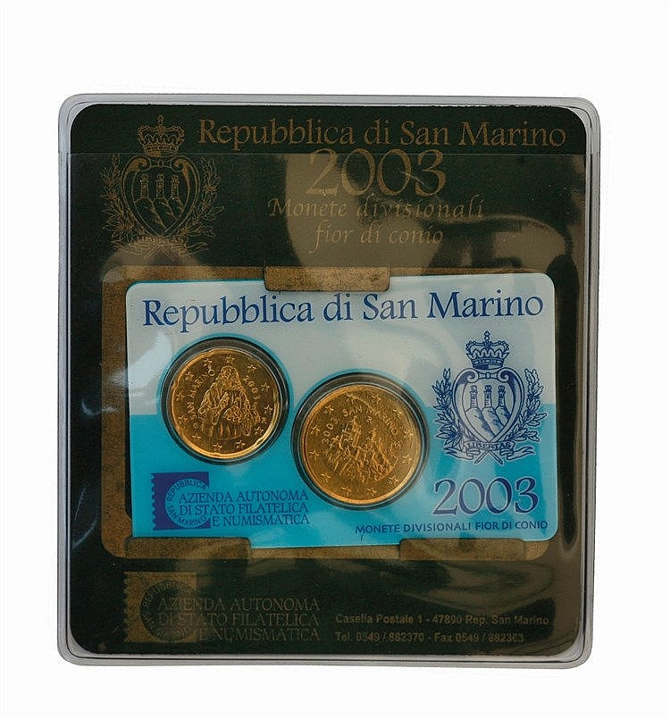 San Marino - 20, 50 Cent 2003