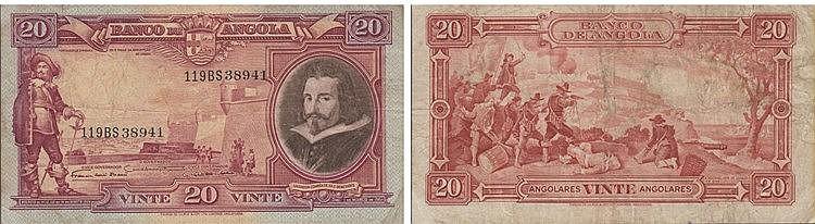 Paper Money - Angola 20 Angolares 1951