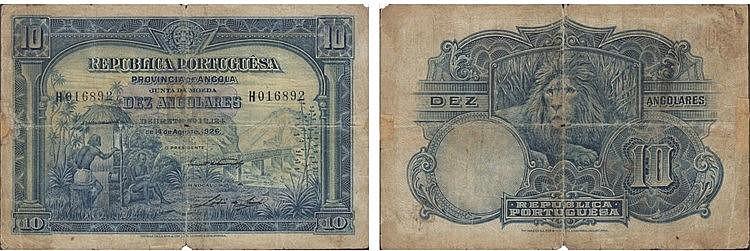 Paper Money - Angola 10 Angolares 1926