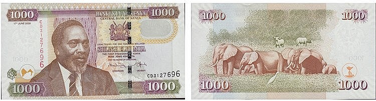 Paper Money - Kenya 1000 Shillings 2009