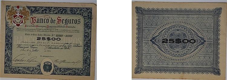 Título de Acção - 25$00 1920