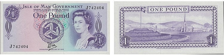 Paper Money - Isle of Man Pound ND