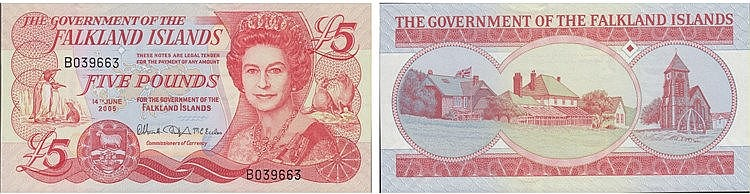 Paper Money - Flakland Islands 5 Pounds 2005