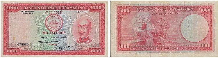 Paper money - Portuguese Guinea 1000$00 1964